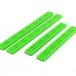 แท่งพลาสติก เจาะรู สีเขียว ขนาด 15*115*3mm