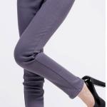 กางเกงเลคกิ้ง สีเทา ขายาว ใส่ทำงานหรือลำลอง สวยๆ