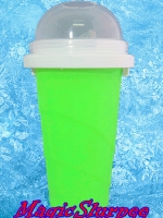 แก้วทำสเลอปี้ สีเขียว
