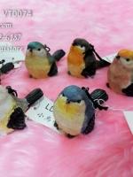 นกจิ๋ว 6 ตัว ของตกแต่งบ้านวินเทจ