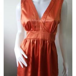 jp2587-เสื้อผ้ามือสอง สีส้ม nicole อก 36-38 นิ้ว