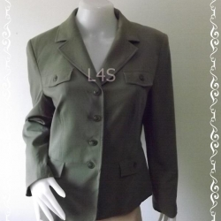 BNjean0040--เสื้อคลุม แฟชั่น สีเขียว แบรนด์เนม Style&co. อก 39-40 นิ้ว