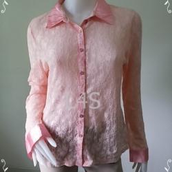 """jp3919-เสื้อแฟชั่น ผ้าตาข่าย สีชมพู """"อก 40-42 นิ้ว"""""""
