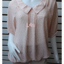 jp5071-เสื้อแฟชั่น นำเข้า สีส้มโอรส อก feee-42 นิ้ว