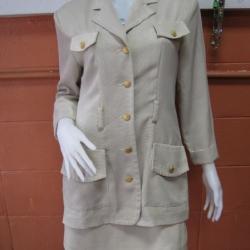"""BNJ0061--ชุดสูทเสื้อ+กระโปรง สีเบจ JOUSSE """"อก 38 นิ้ว"""""""