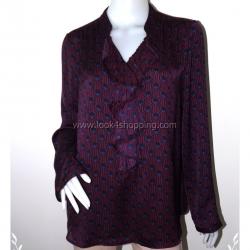 BN2494--เสื้อผ้ามือสอง สีม่วงเข้ม แบรนด์ liz lange maternity อก 40 นิ้ว