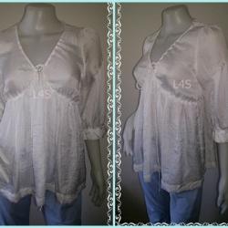 jp4129-เสื้อแฟชั่น นำเข้า มือสอง สีขาว ROMEO & JULIET อก 34 นิ้ว