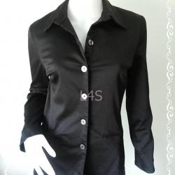 """เสื้อเชิ้ต สีดำ แบรนด์ MERONA """"อก 35-36 นิ้ว"""""""