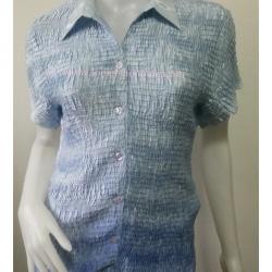 BN2746--เสื้อแฟชั่น สีฟ้า แบรนด์ casual corner อก 34-40 นิ้ว