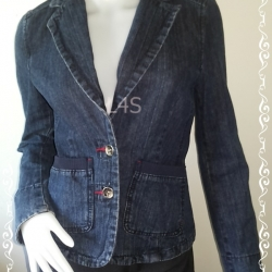 BNjean0055--เสื้อยีนส์ แบรนด์เนม U2 ladies อก 33 นิ้ว