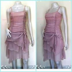 Dress0036- เดรสชีฟอง สีชมพูอ่อนหม่น LEST ROSE อก 32-33 นิ้ว