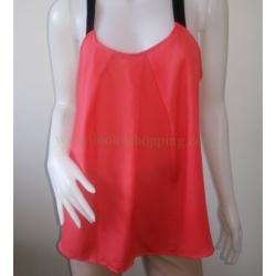 BN3071--เสื้อแฟชั่น สวยๆ สีแดงส้ม FOREVER 21 อก 38นิ้ว