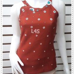 JP4869-เสื้อแขนกุด สีนน้ำตาลแดง BOULEVARD อก 32 นิ้ว