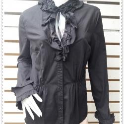jp4847---เสื้อเชิ้ต นำเข้า สีดำ อก 38 นิ้ว