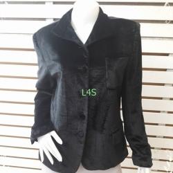 BNjean0056--เสื้อคลุมกำมะหยี่ สีดำ นำเข้า JONES NEW YORK อก 38 นิ้ว