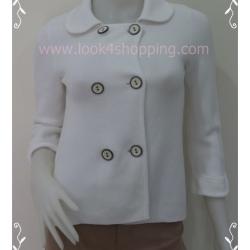 "BNK0156--เสื้อนิตติ้ง สีขาว นำเข้า OLD NAVY Made in Hong Kong ""อก 30-32 นิ้ว"""