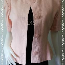 BNjean0023--เสื้อคลุมแฟชั่น นำเข้า สีโอรส GIVENCHY Made in France อก 35