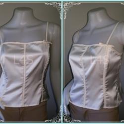 jp3624- เสื้อแฟชั่น นำเข้า สีขาวครีม apostrophe