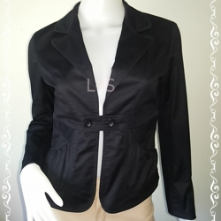 BN4230--เสื้อคลุมแฟชัน สีดำ แบรนด์เนม melody อก 34 นิ้ว