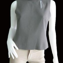 """BN1666--ของใหม่ เสื้อแฟชั่น แขนกุด สีเทา แบรนด์เนมห้าง CIERA """"อก 34 นิ้ว"""""""