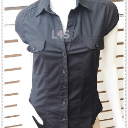 BN4801--เสื้อเชิ้ต แฟชั่น สีดำ แบรนด์H&M อก 33 นิ้ว