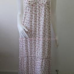 Dress0607--เดรสวินเทจ งานนำเข้า ชีฟอง สวยๆ อก 30-34 นิ้ว