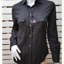BN4876--เสื้อเชิ้ต แฟชั่น สีดำ J-CREW อก 35 นิ้ว