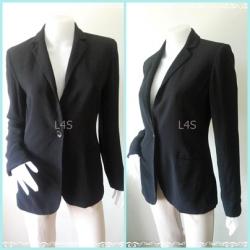 BN4649-เสื้อสูท สีดำ นำเข้า แบรนด์เนม ANN TAYLOR LOFT อก 36 - 37 นิ้ว
