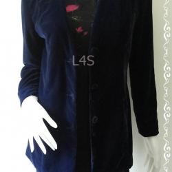 BNjean0015--เสื้อคลุม กำมะหยี่ สีน้ำเงินเข้ม Talbots อก 35 นิ้ว