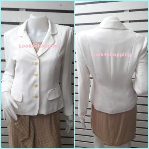 เสื้อสูท นำเข้า สีขาว PORAN อก 36 นิ้ว
