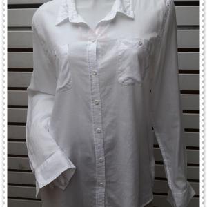 BN4777--เสื้อเชิ้ต แฟชั่น สีขาว mossimo อก 44 นิ้ว