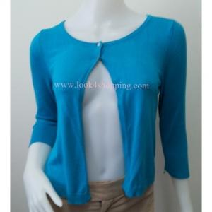 เสื้อคลุมแฟชั่น นิตติ้ง สีฟ้า EXPRESSอก 33-34 นิ้ว