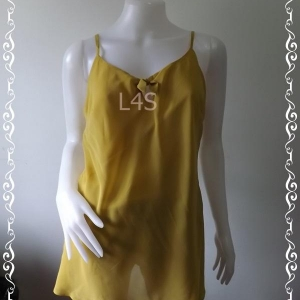 เสื้อแฟชั่น ชีฟอง สีเหลืองตองแก่ cabi อก free-38 นิ้ว