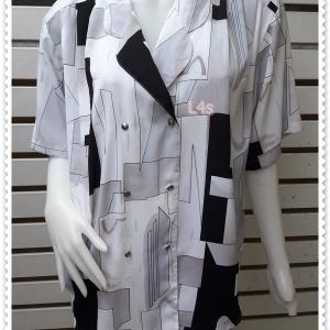jp5044-เสื้อผ้าวินเทจ นำเข้า อก 46 นิ้ว