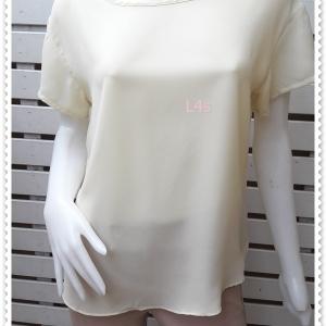 jp5036-เสื้อแฟชั่น ชีฟอง สีเหลืองอ่อน อก 38 นิ้ว
