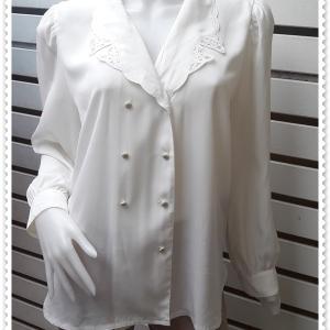 jp5024-เสื้อแฟชั่น นำเข้า สีขาวครีม อก 40 นิ้ว