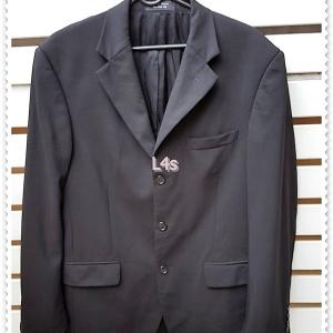 0038--เสื้อสูทชาย สีดำ GIANFRANCO RUFFINI อก 40นิ้ว