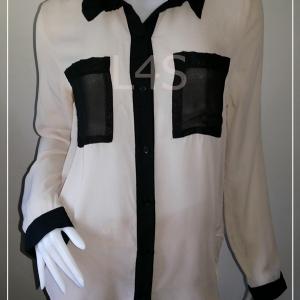 """BN3621--เสื้อแฟชั่น ชีฟอง สีครีม charlotte russe """"อก 38 นิ้ว"""""""