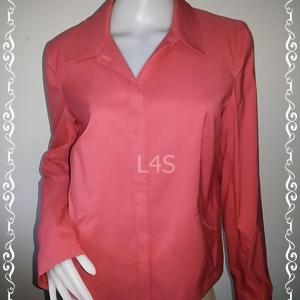 BNjean0047--เสื้อคลุมแฟชั่น นำเข้า สีปูนแดงออกชมพู แบรนด์เนม ANN TAYLOR อก 37 นิ้ว