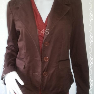 BNjean0025--เสื้อคลุม แจ็คเก็ต แบรนด์เนม daisy fuentes อก36-38 นิ้ว