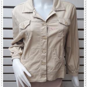 jp5026-เสื้อแจ็คเกต สีกากี นำเข้า HANES อก 40 นิ้ว