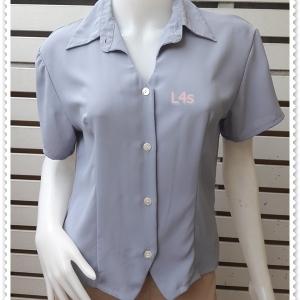 jp5042-เสื้อแฟชั่น นำเข้า สีฟ้า อก 36 นิ้ว