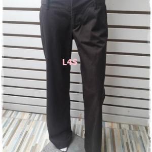กางเกงผ้า สีน้ำตาล แบรนด์ ZARA เอว 32 นิ้ว