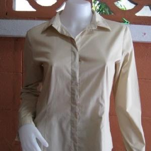 BNJ0177--เสื้อเชิ้ต แบรนด์เนม สีกากี G2000 อก 36 นิ้ว