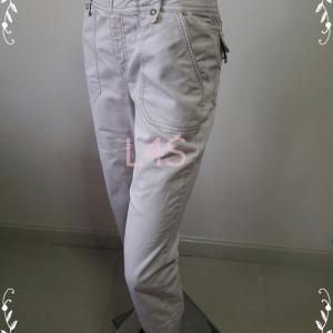 BNB1462-กางเกงผ้า สีครีม BOSSINI เอว27 นิ้ว