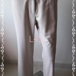 BNB1429-กางเกงผ้า สีกากีเบจ AIIZ
