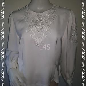 jp4391-เสื้อแฟชั่น นำเข้า สีขาว อก 40 นิ้ว