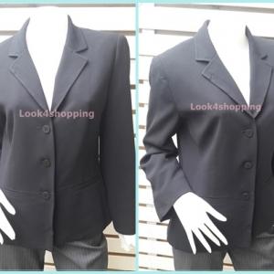 เสื้อสูท มือสอง นำเข้า สีดำ LIZ CLAIBORNE อก 38 นิ้ว