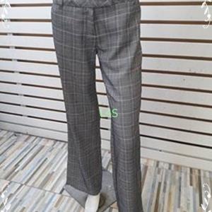 กางเกงผ้า สีเทาลายตาราง ZEIN SIZE M เอว 29 นิ้ว