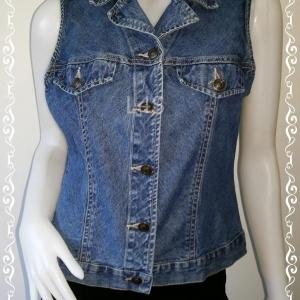 Jeans0018---เสื้อยีนส์ มือสอง นำเข้า ST.JOHNS BAY อก 36 นิ้ว